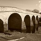 Oldest bridge in Australia-built 1823 - Tasmania  -  sepia by lighthousecove