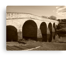 Oldest bridge in Australia-built 1823 - Tasmania  -  sepia Canvas Print