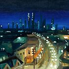 City Scape Sydney Oils by Tristan Klein