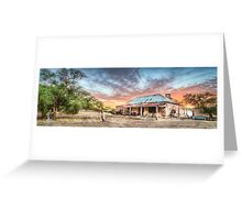 Ruin Of Sunrise Panorama Greeting Card