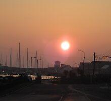 Kilrush Marina at sunset by April Jarocka