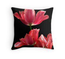 A Hot Pink Pirouette Throw Pillow