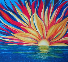 Sunrise starburst by Dorothy ROWNTREE