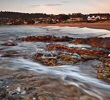 Blackmans Bay Beach at Sunrise by Chris Cobern