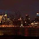 Manhattan at Night by Chipper