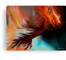 From the Flames..Tikonatee the Dragon Boy.. Canvas Print