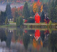 Snow Barn - Mount Snow, Vermont by PhotoKismet
