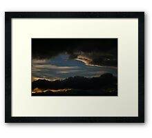sunset layer. tasmania, australia Framed Print