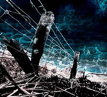Burnt Fence by Andrew (ark photograhy art)