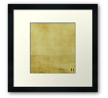 T W O ~ yellow Framed Print