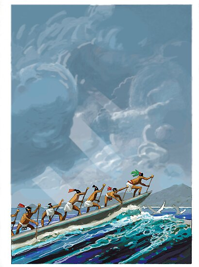 mayan canoe by David  Kennett