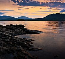 Sunrise, Derwent Water, Cumbria. UK by David Lewins
