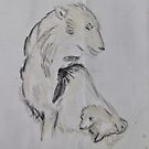 Polar Bear and Cub by petejsmith