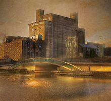 Old Flour Mills - Dublin Harbour, Ireland by Mark Richards