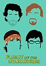 Flight of the Conchords: Silly-ettes by Malc Foy