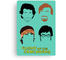 Flight of the Conchords: Silly-ettes Canvas Print