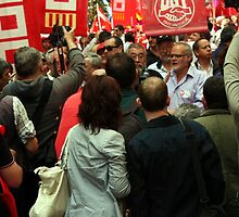 May Day Rally Valencia - media scrum by MikeShort