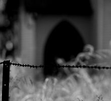 Beyond the barbed wire fence by myraj
