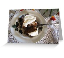 Carrot Cake and Cream Cheese Frosting Greeting Card