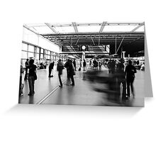 Daily Grind, St Pancras International Station, London Greeting Card