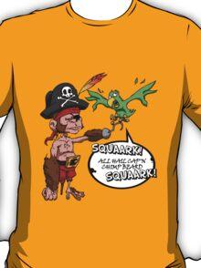 All Hail Cap'n Chimp Beard!  T-Shirt