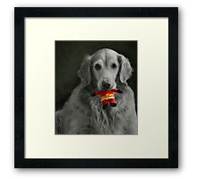 look who's going to be on the naughty list! Framed Print