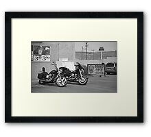 Route 66 - Grants, New Mexico Motorcycles Framed Print