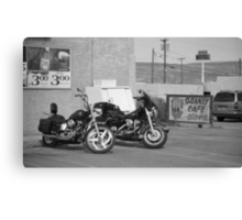 Route 66 - Grants, New Mexico Motorcycles Canvas Print