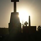 sunset in the cemetery by Jason Dymock