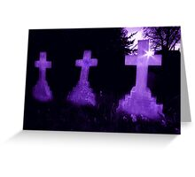 Purple Crosses Greeting Card