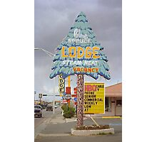 Route 66 - Blue Spruce Lodge Photographic Print
