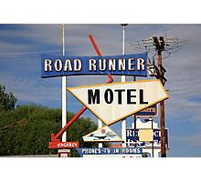 Route 66 - Road Runner Motel Photographic Print