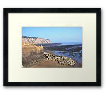 The Black, Lonely Beach, Robin Hood's Bay Framed Print