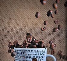 Coffee beans rain by picturegallery