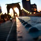 Along the Brooklyn Bridge by Kalpesh Patel