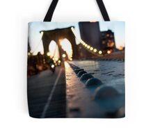 Along the Brooklyn Bridge Tote Bag