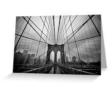 Rainy Brooklyn Bridge Greeting Card