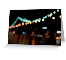 Blurry Manhattan Bridge Greeting Card