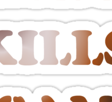 Obama Kills Osama T-shirt Design Sticker