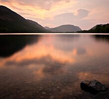 Sunset Buttermere, Cumbria. UK by David Lewins