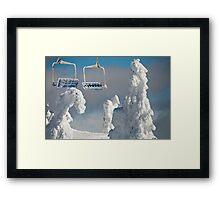 Frozen Chairs Framed Print