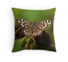 My best Speckled Wood? Throw Pillow