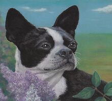 Lady in the Lilacs by Pam Humbargar
