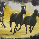 Camino horses by Susan Brown