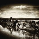 Sunken WWII Submarine, Aberlady Beach, East Lothian, Scotland by Den McKervey