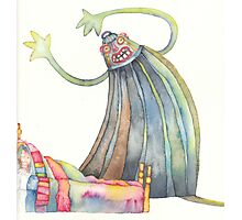 """The monster, illustration of the story """"backpack""""  Photographic Print"""