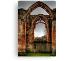 Looking Through the Window, Melrose Abbey Canvas Print