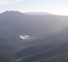 Evans Lookout panorama by Steven Guy