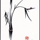 &quot;Gentle Soul&quot; Chinese japanese ink brush pen painting by Rebecca Rees