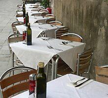Restaurant Tables, Venice by Sandra Baxter